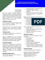 Aquaculture Srategic Developement Program Brochure