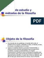 1.2.1 Objeto de estudio y métodos de la filosofía