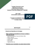 Contágio Financeiro entre Mercados de Acções de Países Desenvolvidos durante a Crise dos Ataques de 11/09/2001 (Apresentação)