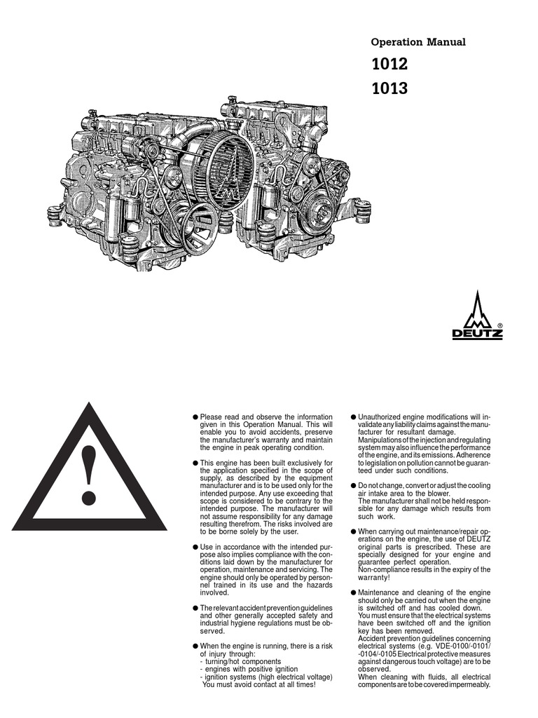 Deutz Alternator Wiring Diagram 31 Images For 12ht Ih8mud Forum 1509640854 Bf6m 1013 Operation Manual Internal Combustion Engine At Highcare