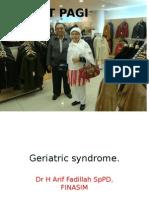 Geriatric Syndrome -Draf