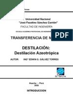 Transferencia de Masa II - Destilación Azeotrópica