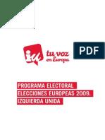 Programa IU Europeas 2009