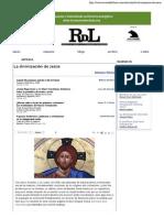 «La divinización de Jesús» de Antonio Piñero -- Revista de Libros_ crítica cultural a través del libro