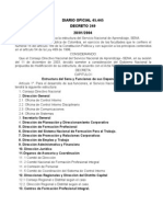 Diario Oficial 41 1 1 .445 20040129 y Decreto 249 Sena Nueva Estructura
