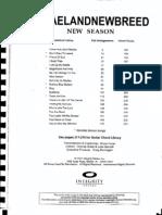 Partituras de Israel and New Breed New Season