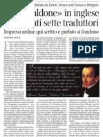 La difficoltà di tradurre Leopardi, di Pietro Citati - Corriere della Sera 25.07.2013