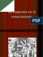 La Imprenta en El Renacimiento