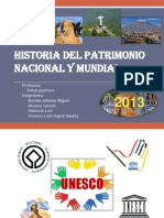 Historia Del Patrimonio Nacional y Mundial
