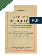 Dictées Certificat d'Etude Recueil de dictées 1958