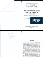 Constitution of the Party of Labour of Albania