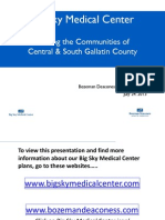 Bozeman Deaconess proposal for Big Sky hospital