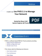Webinar Presentation How+to Use PVES 2.1 to Manage Your Network
