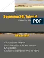 Beginning SQL Tutorial - Edited
