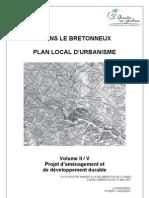 PADD de Voisins-le-Bretonneux