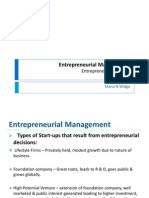Entrepreneurial Management - II