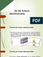 Fuerza Electromotriz y Potencia Electrica