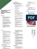 Oral Hygiene Palliative