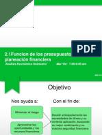 Tema 2.1 Funciones de Los Presupuestros Financieros en La Planeacion Financiera