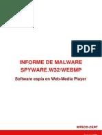 Informe de malware Spyware.w32/webmp
