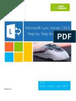 Microsoft Lync Server 2013 Step by Step for Anyone_REV2013