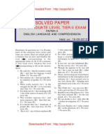 Ssc Cgl 2012 Tier II Solved Paper i English