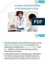 Population SOH Analyzer For Ambulatory Care
