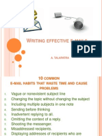 Effective E-mail Writing