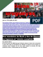 Noticias Uruguayas Jueves 25 de Julio Del 2013