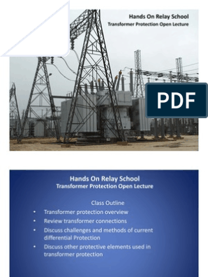 Transformer Protection Open Lecture | Transformer | Relay