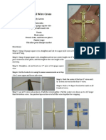 86142403 Twisted Wire Wrapped Cross Pendant Tutorial