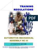 TR - Automotive Mechanical Assembly NC III