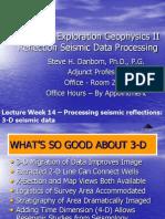 Seismic Processing III
