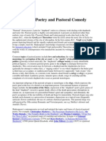 Pastoral Poetry and Pastoral Comedy