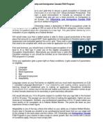 Citizenship and Immigration Canada FSW Program