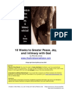 s18 Weeks to Greater Peace, Joy,   and Intimacy with God