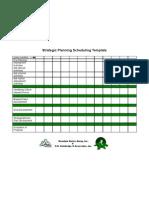 19. Strategic Planning Scheduling Template