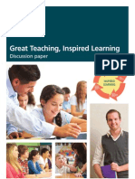 Great Teaching, Inspired Learning Discussion paper