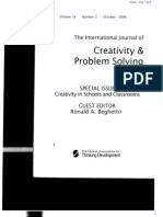 Creativity in Gifted & Talente Childre. the International Journal of Creativity and Problem Solving 2008. Ferrando. Ferrandiz. Prieto. Bermejo. Sainz