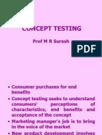 Concept testing in MR