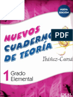 Nuevos Cuadernos Teoría Musical Ibáñez-Cursá (1 Grado elemental)
