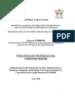 SDP 02 2008 Servicios de Implementación del Sistema de Gestión Administrativa y Financiera del INADEH