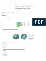 013 Insciribed and Circumscribed Sphere About a Cube - Volume Comparison _ Solid Geometry Review