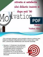Motivatia Si Satisfactia Cadrului Didactic