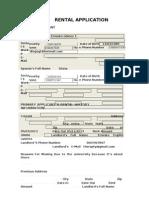 Rental Application (Task 1)