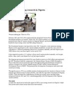 Cassava Processing Research in Nigeria