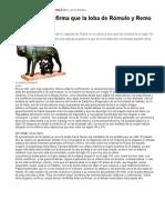 La Loba de Romulo y Remo Es Medieval