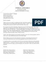 Letter to Speaker Madigan