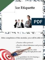 Office Etiquettes - 3rd Sem