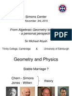 20101103 Atiyah - From Algebraic Geometry to Physics